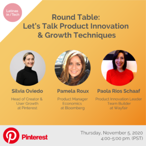 Pinterest and Latinas in Tech Event